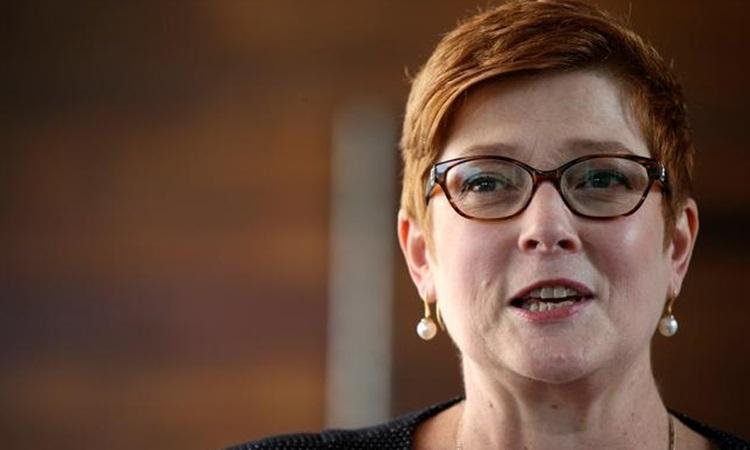 Ngoại trưởng Australia Marise Payne phát biểu tại buổi họp báo ở đại sứ quán Australia tại Bangkok, Thái Lan tháng 1/2019. Ảnh: Reuters.