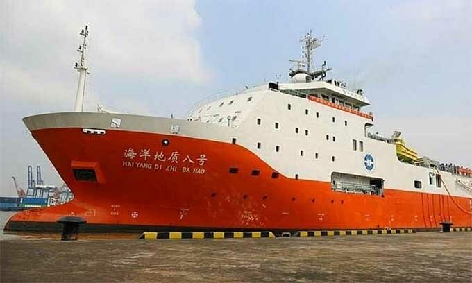 Tàu khảo sát Địa Chất Hải Dương 8. Ảnh:CGS.