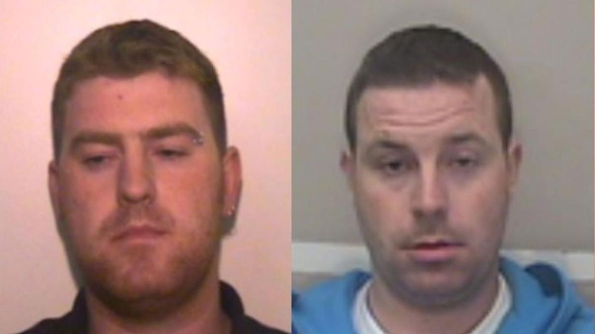 Ronan Hughes (trái) và em trai Christopher Hughes bị cảnh sát truy nã sau vụ 39 người Việt chết trên container. Ảnh: Sky News