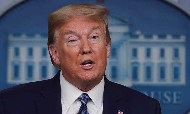 Tổng thống Mỹ Donald Trump trong cuộc họp báo tại Nhà Trắng hôm 21/4. Ảnh: Reuters.