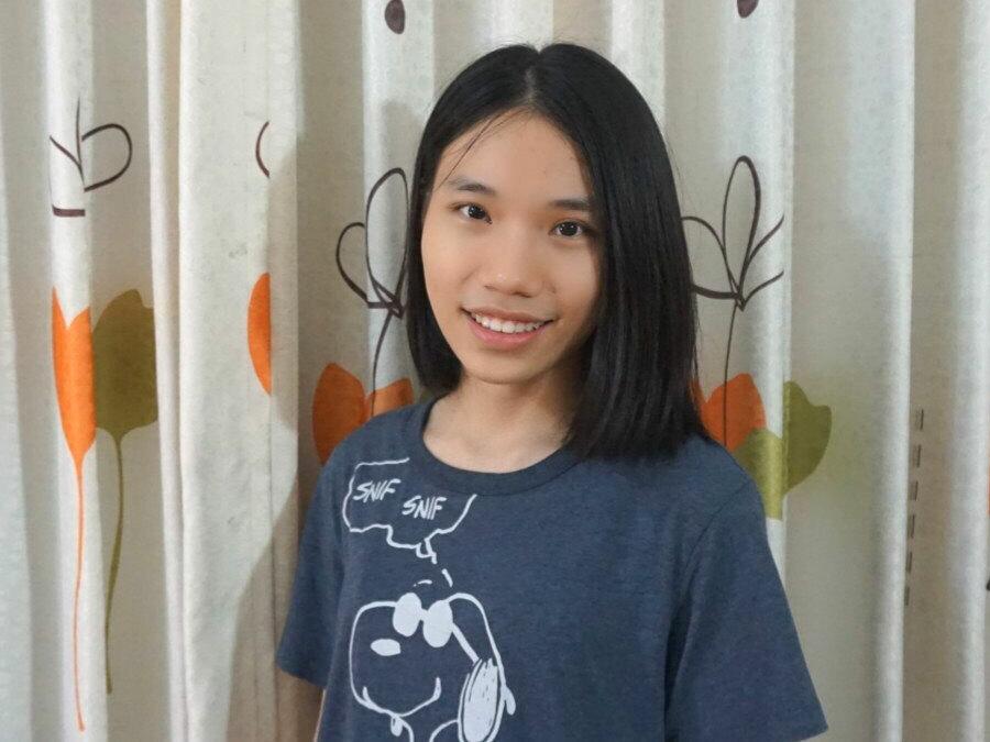 Lương Hiền Nga, học sinh lớp 12 Hóa 1 trường THPT Chuyên Hà Nội - Amsterdam. Ảnh: Nhân vật cung cấp.