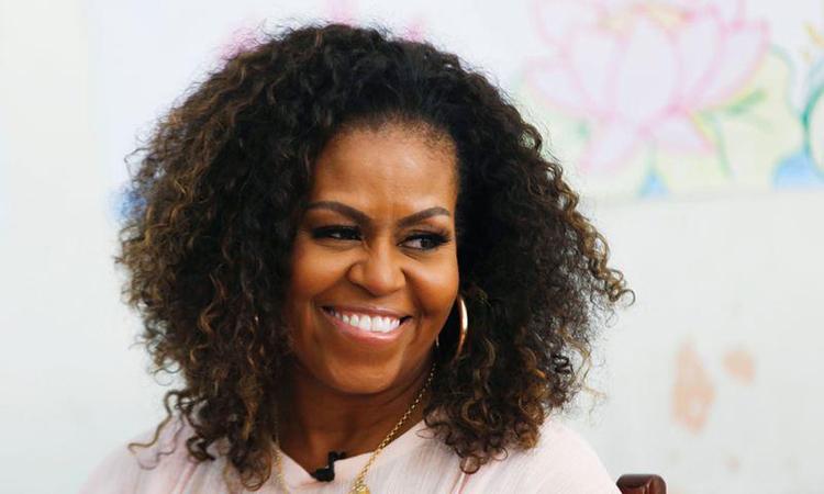 Cựu đệ nhất phu nhân Mỹ Michelle Obama tại một sự kiện ở Long An, Việt Nam, tháng 12/2019. Ảnh: Reuters.