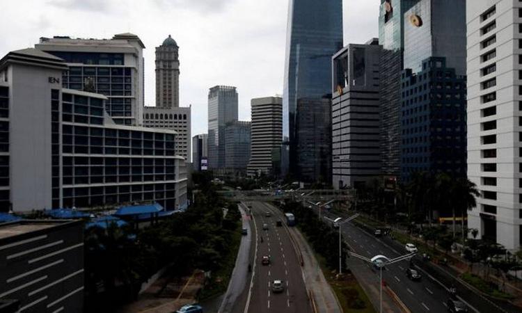 Khu vực trung tâm thủ đô Jakarta của Indonesia hôm 24/3. Ảnh: Reuters.
