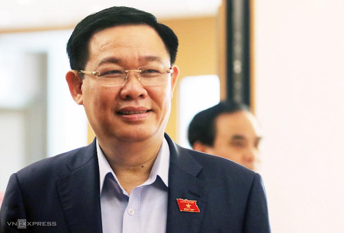 Ông Vương Đình Huệ - Bí thư thành uỷ Hà Nội. Ảnh: Võ Hải
