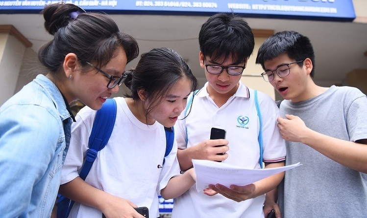 Thí sinh dự thi THPT tại Hà Nội năm 2019.Ảnh: Giang Huy