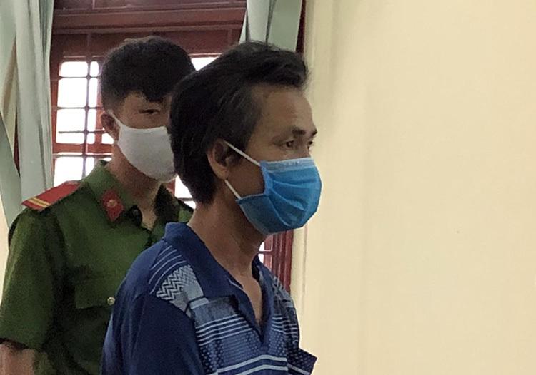 Bị cáo Nguyễn Văn Hải tại phiên toà. Ảnh: Hưng Lợi