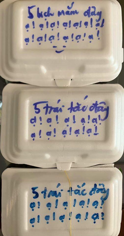 Đặt giao hàng bún đậu mắm tôm, cô gái nhiệt tình dặn chủ quán cho thêm 5 bịch mắm tận 6 lần  - 2
