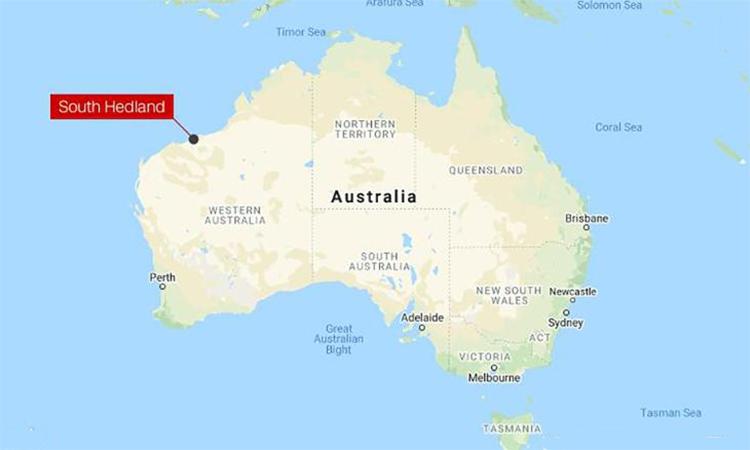 Vị trí thành phố Port Hedland, Australia. Đồ họa: Google.