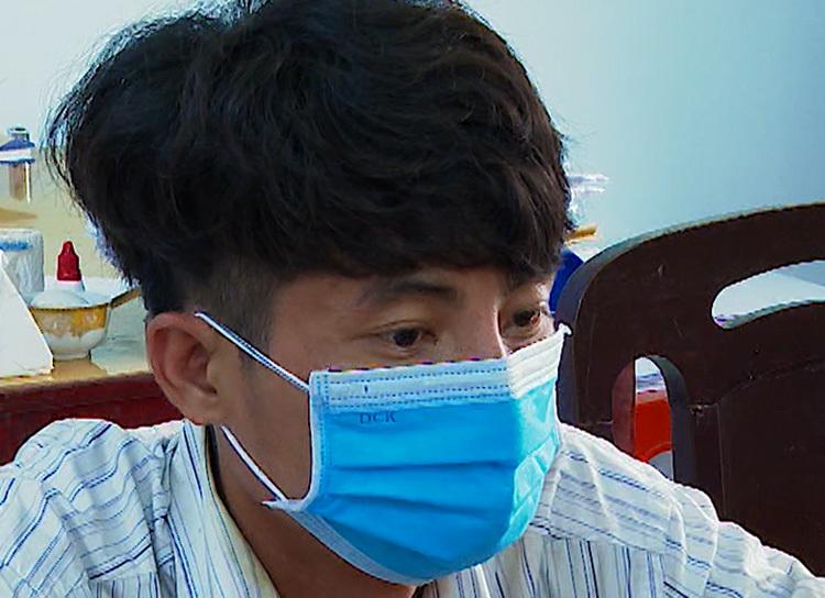Nguyễn Trí Thịnh tại cơ quan điều tra. Ảnh: An Bình