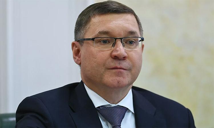 Bộ trưởng Xây dựng và Nhà ở Vladimir Yakushev trong cuộc họp với Hội đồng Liên bang ở Moskva, ngày 25/4. Ảnh: RIA Novosti.