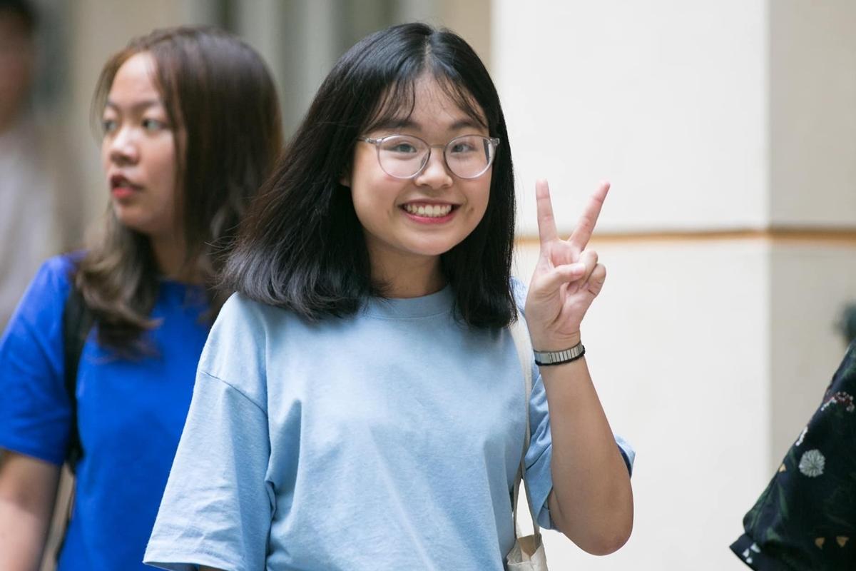 Tân sinh viên nhập học Học viện Báo chí và Tuyên truyền ngày 20/8/2019. Ảnh: Song Tre Festival