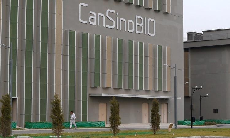 Trụ sở của công ty CanSino Biologics ở Thiên Tân. Ảnh: Reuters.