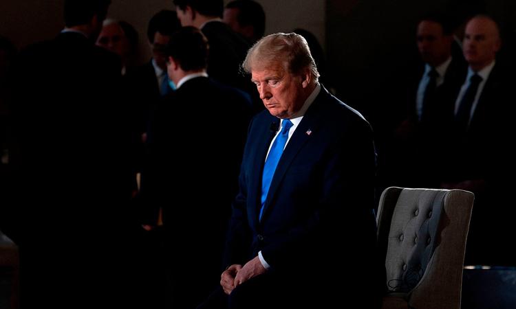 Tổng thống Donald Trump trong cuộc phỏng vấn với Fox News tại thủ đô Washington, hôm 3/5. Ảnh: AFP.