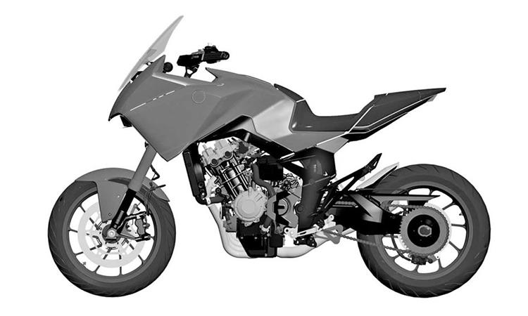 Bản vẽ thiết kế của CB4X bản sản xuất. Nguồn: Motorbeam
