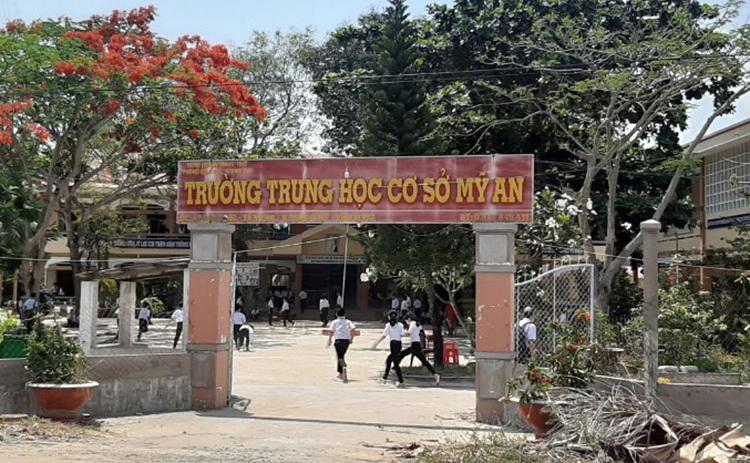 Trường THCS Mỹ An ở huyện Mang Thít. Ảnh: Vĩnh Nam