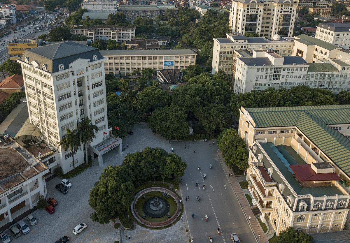 Khuôn viên trụ sở Đại học Quốc gia Hà Nội ở quận Cầu Giấy. Ảnh: VNU.
