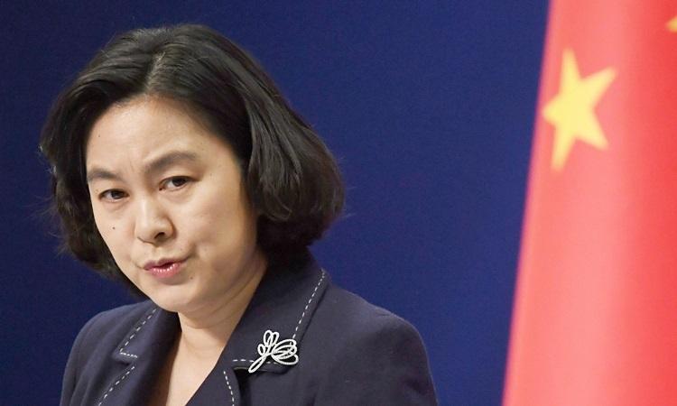 Phát ngôn viên Bộ Ngoại giao Trung Quốc Hoa Xuân Oánh. Ảnh: CGTN.