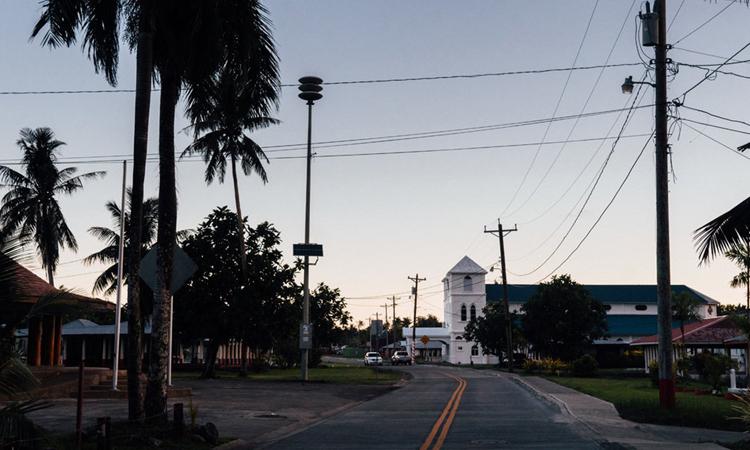Con đường ở làngNu'uuli vắng bóng xe cộ. Ảnh: NYTimes.