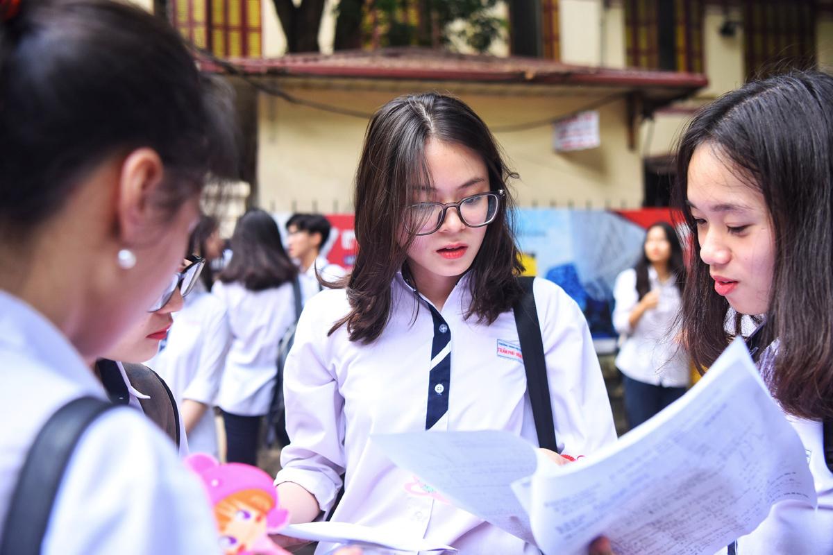 Thí sinh thi THPT quốc gia năm 2019. Ảnh: Giang Huy.