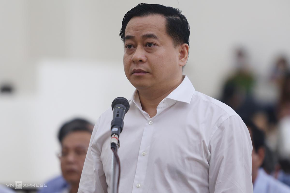 Phan Văn Anh Vũ tại toà sáng nay. Ảnh: Phạm Dự.