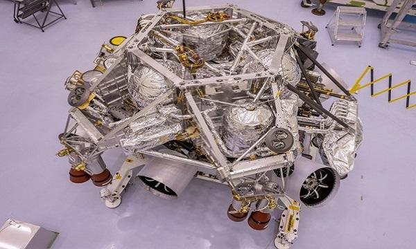 Tầng cạ cánh của robotPerseverance. Ảnh: NASA.