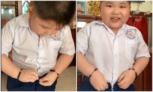 Bé trai ăn vụng nồi cơm lúc vắng mẹ - 4