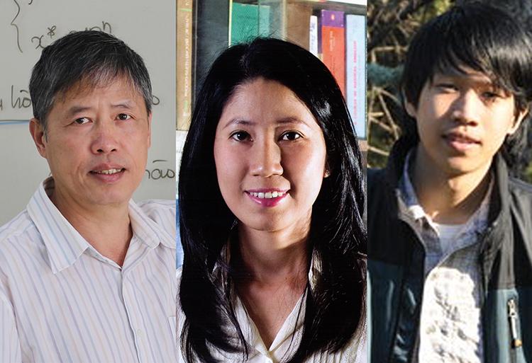 Từ trái qua: PGS.TS. Phạm Tiến Sơn, PGS.TS. Vương Thị Ngọc Lan, TS. Nguyễn Trương Thanh Hiếu. Ảnh: Nafosted.