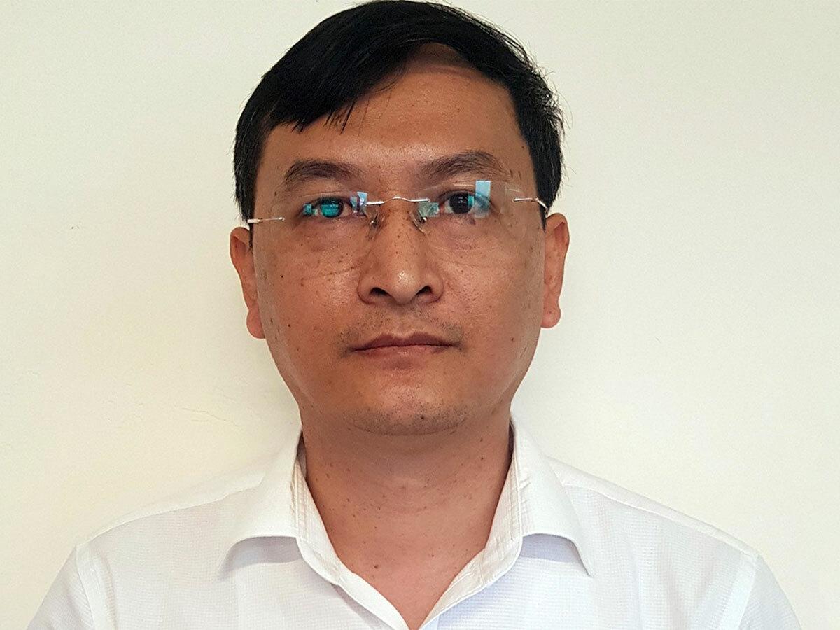 Ông Lê Quang Hào tại cơ quan điều tra. Ảnh: Bộ Công an