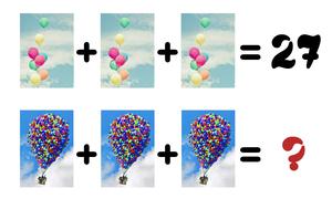 Ba chùm bóng bay khổng lồ trong phim Up có bao nhiêu quả?