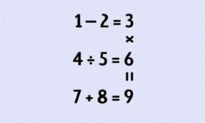 Thay đổi vị trí 9 chữ số để đáp án đúng