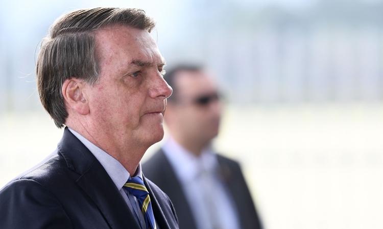Tổng thống Brazil Jair Bolsonaro tại Brasilia hôm 6/5. Ảnh: AFP.