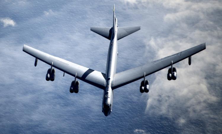 Một chiếc B-52H tham gia nhiệm vụ hôm 7/5. Ảnh: USAF.