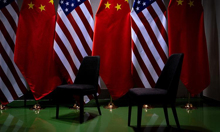 Địa điểm gặp mặt của Tổng thống Donald Trump và Chủ tịch Trung Quốc Tập Cận Bình bên lề hội nghị G20 tạiOsaka, Nhật Bản, hồi tháng 6/2019. Ảnh: NYTimes.