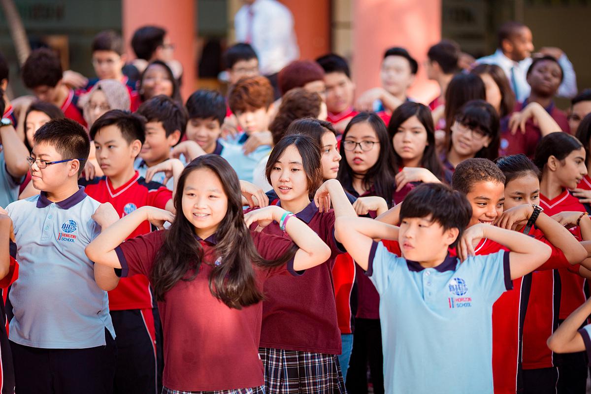 Học sinh tiểu học trường TH, THCS, THPT Song ngữ quốc tế Horizon. Ảnh: Horizon