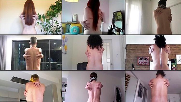 Các tình nguyện viên tham gia dự án chụp ảnh khỏa thân tập thể qua mạng của nhiếp ảnh gia Spencer Tunick. Ảnh:Spencer Tunick