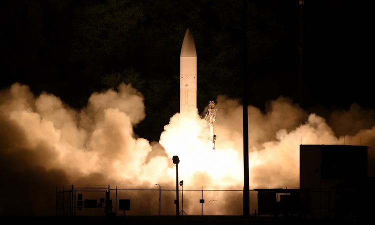 Tên lửa mang C-HGB phóng từ bãi thử ở Hawaii ngày 19/3. Video: US Navy.