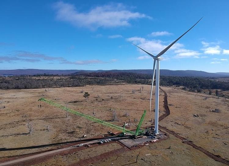 Trang trại gióCattle Hill ở Cao nguyên Trung tâm Tasmania. Ảnh: Goldwind Australia.