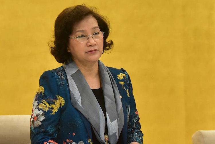 Chủ tịch Quốc hội Nguyễn Thị Kim Ngân phát biểu bế mạc phiên họp Thường vụ Quốc hội 43 sáng 25/3. Ảnh: Trọng Quỳnh