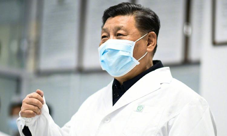 Chủ tịch Trung Quốc Tập Cận Bình giám sát công tác phòng chống Covid-19 tại Bắc Kinh hôm 10/2. Ảnh: Xinhua.