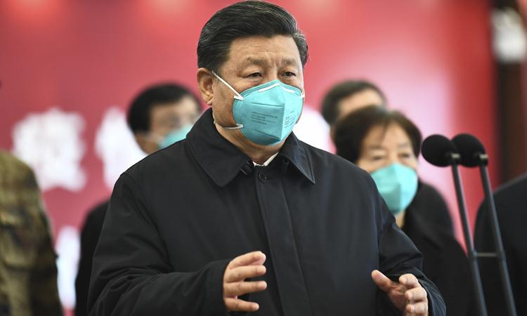 Chủ tịch Trung Trung Quốc Tập Cận Bình phát biểu trong chuyến thăm Vũ Hán hồi tháng 3. Ảnh: Xinhua.