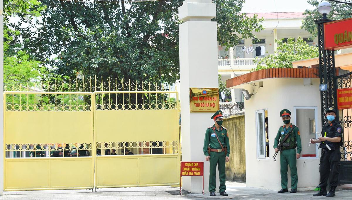 Toà án Quân sự thủ đô trong thời gian diễn ra phiên xét xử. Ảnh: Giang Huy