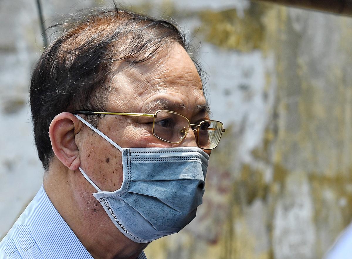 Ông Nguyễn Văn Hiến tại phiên toà ngày 18/5. Ảnh: Giang Huy