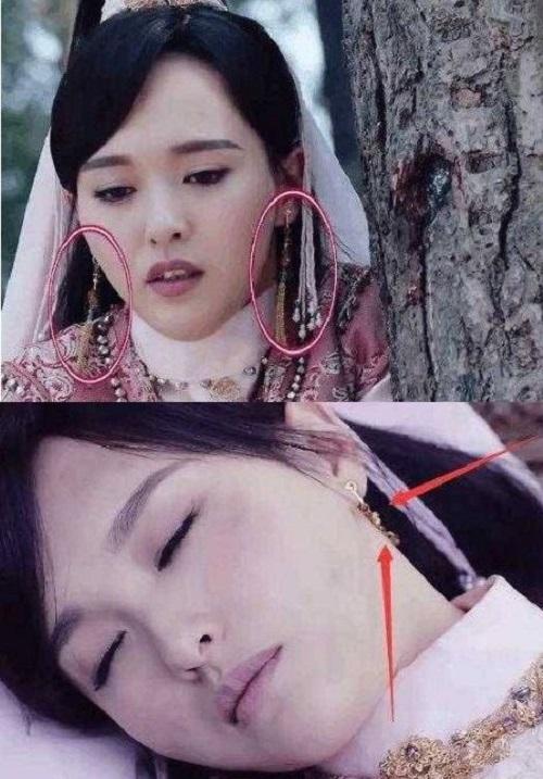 Trước khi ngât, Đường Yên đã kịp thay hoa tai...