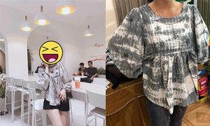 Cô gái méo mặt vì nhận áo khác xa hàng mẫu