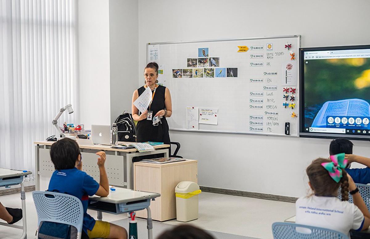 Một giờ học tại trường Quốc tế Việt Nam - Phần Lan. Ảnh: VFIS.