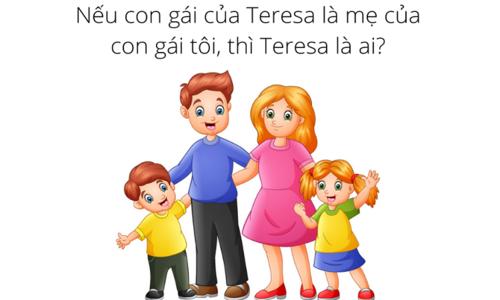 Teresa là ai nếu con gái của cô ấy là mẹ của con gái tôi?