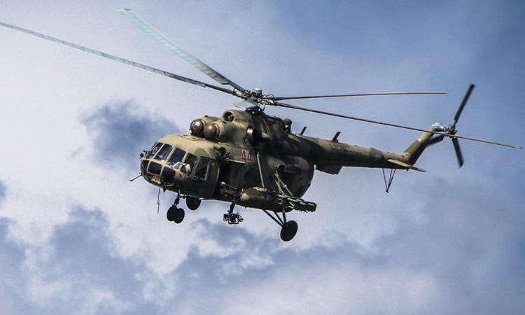 Một trực thăng MI-8 của không quân Nga. Ảnh: TASS.