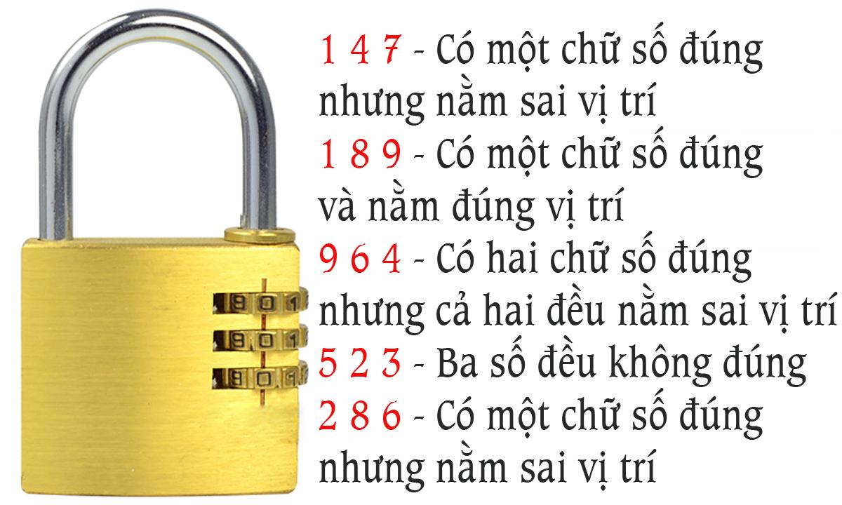 Mã số để mở ổ khóa là bao nhiêu?