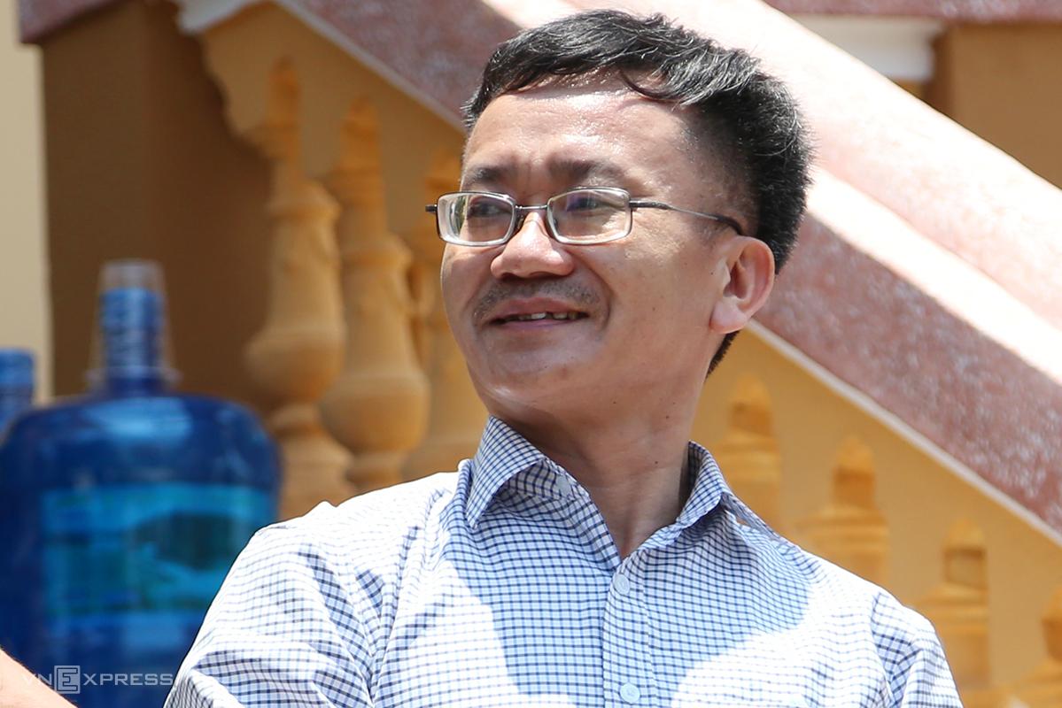 Nguyễn Quang Vinh, cựu Trưởng phòng khảo thí Sở Giáo dục và Đào tạo tỉnh Hoà Bình là chủ mưu vụ nâng điểm thi. Ảnh: Phạm Dự.