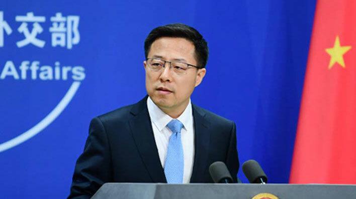 Ông Triệu Lập Kiên trong cuộc họp báo ở Bắc Kinh ngày 20/5. Ảnh: BNG Trung Quốc.